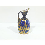 Antique Forester and Sons Cobalt Blue and Gilt Pitcher