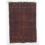 Hand Knotted Wool Pile Turkman Rug