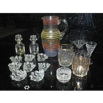 Collection of Glass Including, Shell Dishes, Vintage Medicine Bottles, Water Pitcher and More