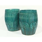 Pair of Chinese Glazed Ceramic Stools