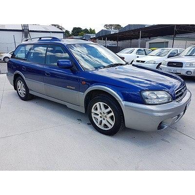 8/2001 Subaru Outback Limited MY01 4d Wagon Blue 2.5L
