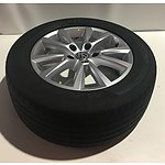 Set of 4 Genuine  VW 18 inch Alloy wheels from 2012 Touareg in excellent Condition with tyres