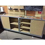 Storage Cupboard with Sliding Doors