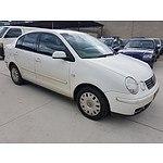 7/2004 Volkswagen Polo Classic 9N 4d Sedan White 1.6L