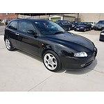 8/2003 Alfa Romeo 147 2.0 TWIN Spark  3d Hatchback Black 2.0L