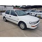 7/1998 Toyota Corolla CSi AE101R 4d Sedan White 1.6L