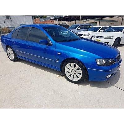 5/2006 Ford Fairmont GHIA BF MKII 4d Sedan Blue 4.0L