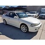 7/2000 Mitsubishi Lancer MR CE 2d Coupe White 1.8L