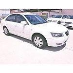 6/2007 Hyundai Sonata  NF 4d Sedan White 3.3L