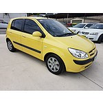 8/2006 Hyundai Getz 1.6 TB UPGRADE 3d Hatchback Yellow 1.6L