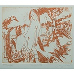 Garry Shead (b.1942) Springwood III Sepia Etching