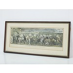 Chaucers Canterbury Pilgrims Hand Coloured Engraving