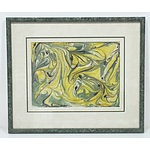 G. Watt Spring Wattle Marbled Fabric