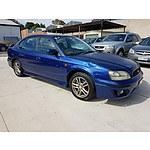 4/2003 Subaru Liberty RX MY03 4d Sedan Blue 2.5L