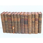 Twelve Gilt and Leather Bound Volumes of Histoire Naturelle Circa 1766