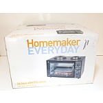 New Homemaker Everyday 38 Litre Electric Oven With Two Stove Tops