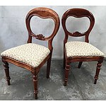 Two Antique Maple Balloon Back Nursing Chairs