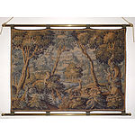 Aubusson Verde Tapestry of a Classical Garden