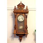 Antique Walnut and Metal Mounted Vienna Regulator