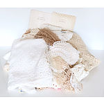 Group of Vintage Lace, Including Tablecloths, Dollies and More