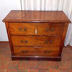 American Figured Black Walnut Chest of Drawers Circa 1890