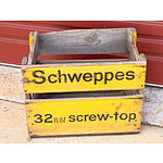 Vintage Schweppes Advertising Crate