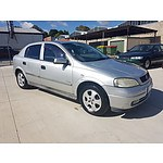 6/2000 Holden Astra CITY Olympic Edition TS 5d Hatchback Silver 1.8L