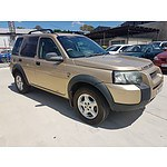 8/2004 Land Rover Freelander SE (4x4)  4d Wagon Gold 2.0L