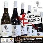 Mixed Half Dozen 1 x 2014 Pear Tree Pinot Gris and 5 x 2013 Pear Tree Pinot Noir + 'image'