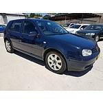 5/2003 Volkswagen Golf 2.0 Sport  5d Hatchback Blue 2.0L