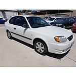 6/2003 Hyundai Accent 1.6 LC 3d Hatchback White 1.6L