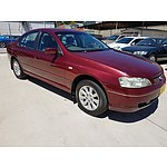 6/2003 Ford Falcon Futura BA 4d Sedan Red 4.0L