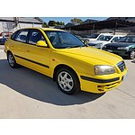 10/2005 Hyundai Elantra 2.0 HVT XD 05 UPGRADE 5d Hatchback Yellow 2.0L