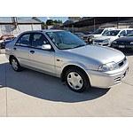 7/2001 Ford Laser LXi KQ 4d Sedan Silver 1.6L