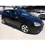 9/2005 Volkswagen Golf GTi 1K 5d Hatchback Black 2.0L
