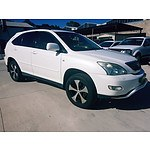 9/2003 Lexus Rx330 Sports Luxury MCU38R 4d Wagon White 3.3L