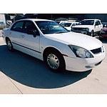 4/2004 Mitsubishi Magna ES TL 4d Sedan White 3.5L