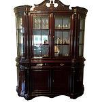 Mahogany Louis XIV Style Vitrine Cabinet