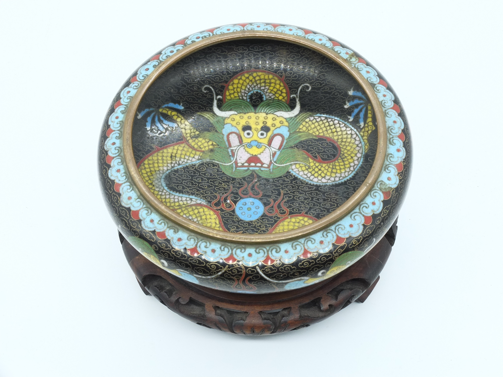 'Small Chinese Cloisonne Brush Washer Early 20th Century'