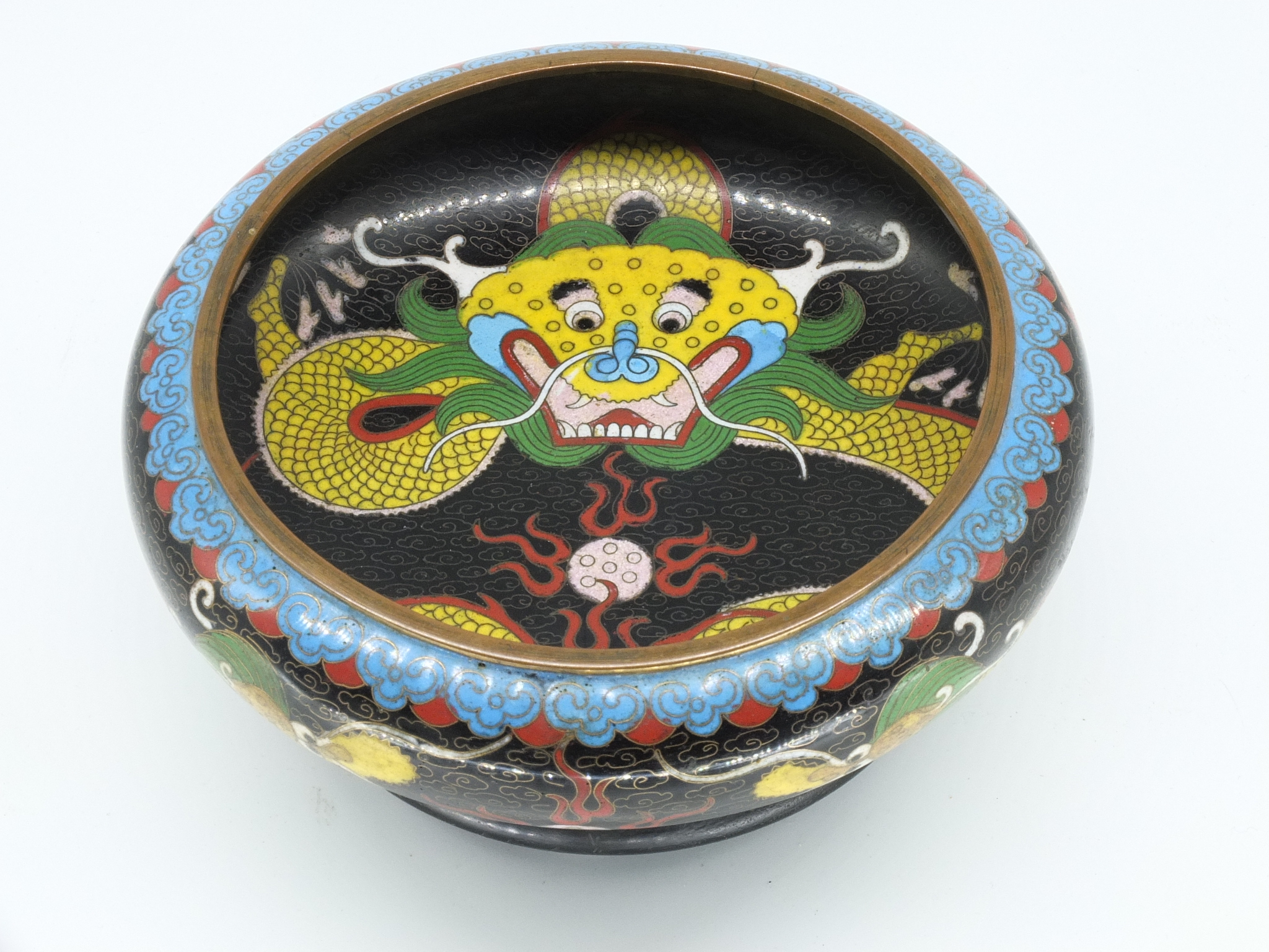 'Chinese Cloisonne Brush Washer Early 20th Century'