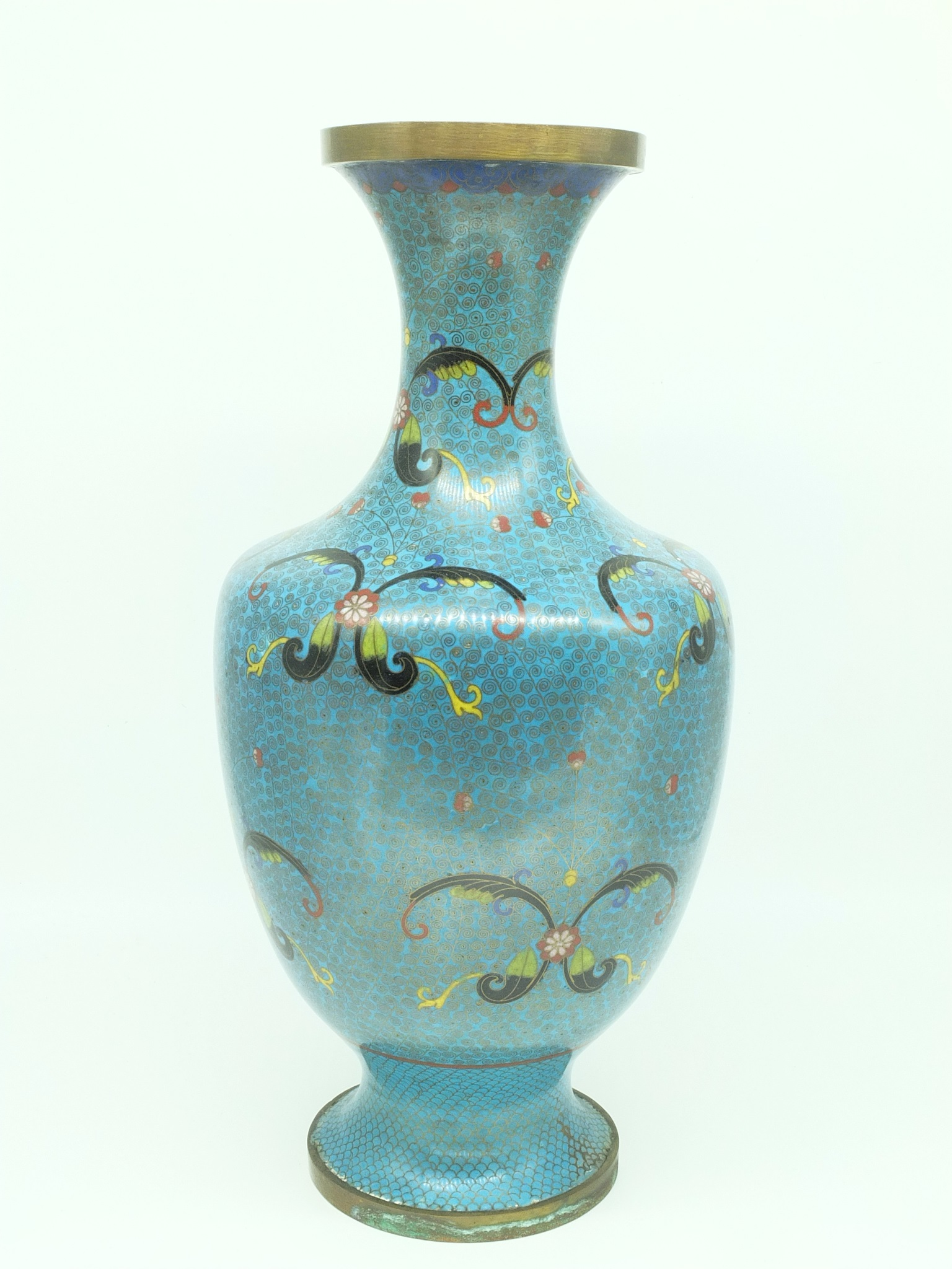 'Large Chinese Cloisonne Vase, Mid 20th Century'