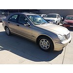 12/2002 Mercedes-Benz C180 Kompressor Classic W203 4d Sedan Gold 1.8L