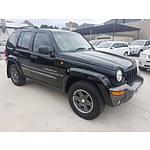 4/2004 Jeep Cherokee Extreme Sport ED KJ 4d Wagon Black 3.7L