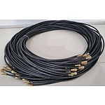 Brand New 120JRG-59G F Type Male to F Type Male 3 Meter Cables - Lot of 300 RRP=$1,500.00