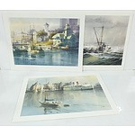 Three Harry Heine Prints, Nanaimo Harbour, Sheringham Point and Princess Marguerite Victoria