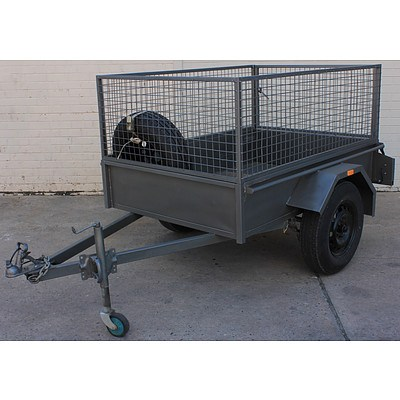 6' x 4' Caged Box Trailer   VIN 6T9T20ACT615W4162
