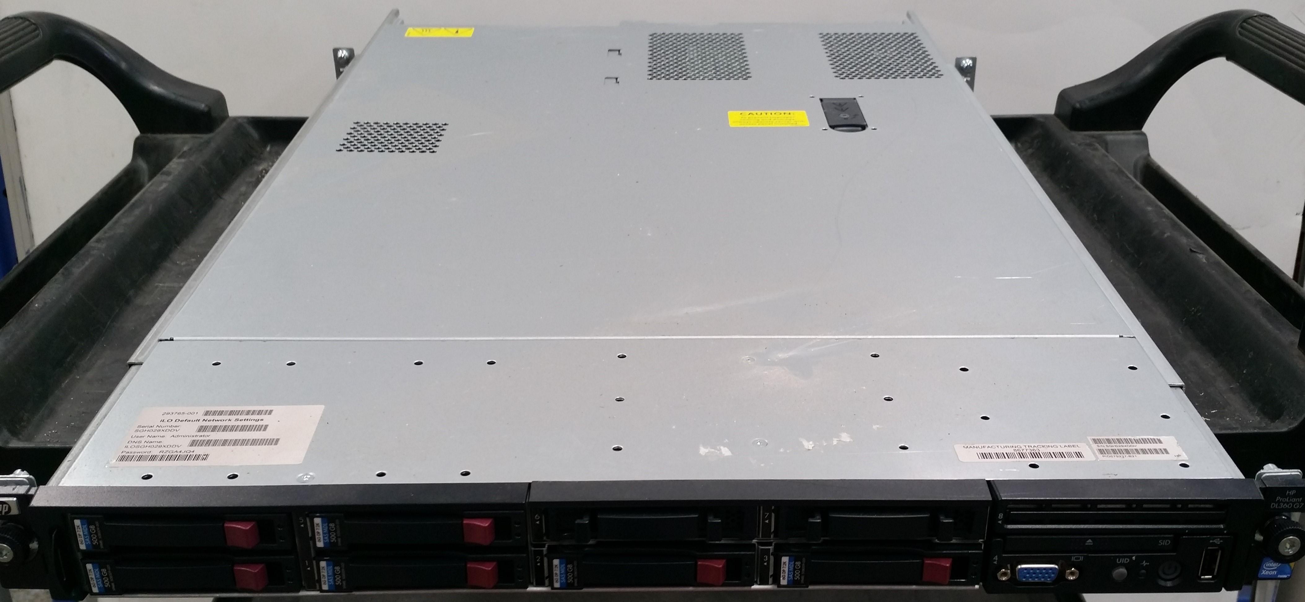 HP ProLiant DL360 G7 Dual Xeon (L5640) 2 27GHz 1 RU Server