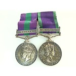Pair of General Service Medals 1918-62