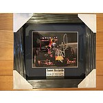 Framed and signed picture celebrating Daniel Joseph Ricciardo's First Win: the 2014 Canadian Grand Prix
