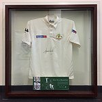 "Mounted and Signed Shane Warne ""Beyond 600"" Test shirt"